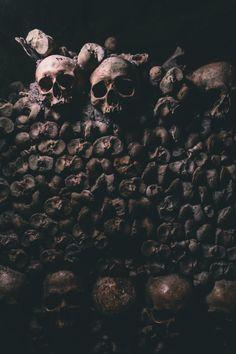 Try or try dying Catacombs Paris, Tartarus, Vash, Human Skull, High Fantasy, Memento Mori, Macabre, Aesthetic Pictures, Dark Art