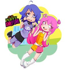 """""""I decided to have a go at doodling Ami and Yumi from HiHi Puffy AmiYumi!"""" marshmallowpillows.paigeeworld.com  #hihipuffyamiyumi #ami #yumi #hihi #puffy #fanart ~Moonie"""
