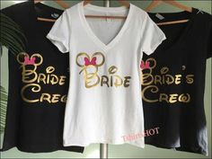 Heading to Disney Bachelorette, these Disney Wedding Shirts will be awesome fit! Perfect for the future bride, bride to be, wedding, Disney bridal shower, Disney wedding photo shooting, Disney wedding dress Shopping, or Dsiney Bachelorette party party. So soft tee, so soft hand printing,