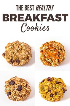 Breakfast has never been easier than with these make-ahead Healthy Breakfast Cookies. These oatmeal cookies are clean eating, gluten-free, and vegan.
