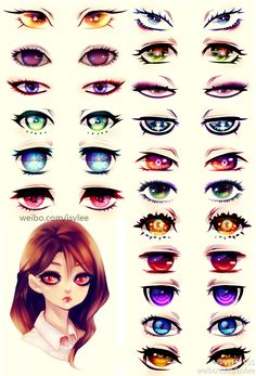Eyes with interesting style