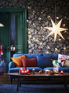 """Ikea's Holiday Collection Is A """"Choose Your Own Adventure"""" #refinery29 http://www.refinery29.com/2016/11/128418/ikea-holiday-catalog-2016#slide-48 Ikea Vinter 2016 Hanging Ornaments, 7.99, available at Ikea...."""