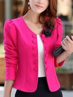 Women's   Fashionable Blazer Blazers from fashionmia.com