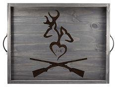 Deer silhouette, deer wall decor, deer art, deer decor, deer antler decor, hunting decor, hunting gifts, engraved gifts
