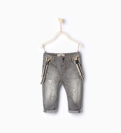 Lined trousers with braces-Jeans-Baby boy-Baby | 3 months - 3 years-KIDS | ZARA Hungary