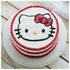 Be it your cute girlfriend or wife or be your cute little angel, this Kitty Cake will make their day beautiful and happy :) Order. Cartoon Birthday Cake, Hello Kitty Birthday Cake, Birthday Cake Girls, Happy Birthday, Cake Decorating Techniques, Cake Decorating Tutorials, Sweet Cakes, Cute Cakes, Torta Hello Kitty