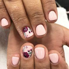 "Liz Henson (@nails.byliz) on Instagram: ""Simple fall florals . . . . #nails #gelnails #nailstagram #naturalnails #gelpolish #fall…"""