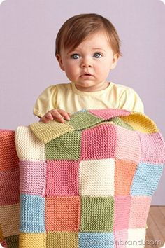 Patchwork Garter Baby Throw pattern by Lion Brand Yarn – knitting blanket colors Easy Knitting, Loom Knitting, Knitting Patterns Free, Free Pattern, Baby Blanket Knitting Pattern Free, Start Knitting, Patchwork Patterns, Loom Patterns, Tricot Facile