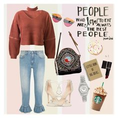 """""""College-time with Cropped"""" by egaemgyu on Polyvore featuring WithChic, MSGM, Schutz, NOVICA, Christian Dior, Forever 21, Rolex and croppedstyle"""