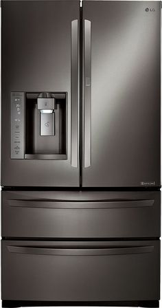 LG LMXS27676D 36' Black Stainless Steel Series French Door Refrigerator with 27 cu. ft. Total Capacity >>> This is an Amazon Affiliate link. Check this awesome product by going to the link at the image.