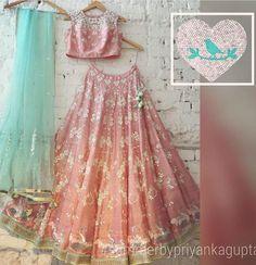 Summer By Priyanka Gupta. Indian Wedding Wear, Indian Bridal, Indian Dresses, Indian Outfits, Indian Clothes, Ethnic Fashion, Indian Fashion, Bollywood, Lehenga Designs