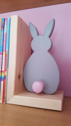 Bunny book ends - available in any colours