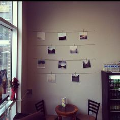 Easy DIY project idea (String, clothes pins, and of course your photos)