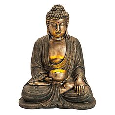 """Gartenbrunnen """"Buddha"""" mit LEDs"""
