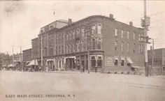East Main St. Fredonia, 1911-I watched that building burn a few years ago!!