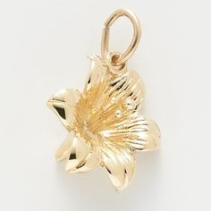 14k Gold Lilly Charm By Rembrandt Charms