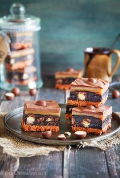 Salted Caramel No Bake Malteser Slice — The Whimsical Wife Easy Desserts, Delicious Desserts, Dessert Recipes, Tray Bake Recipes, Baking Recipes, Malteser Slice, Brownies, Biscuit Mix, Cake Recipes