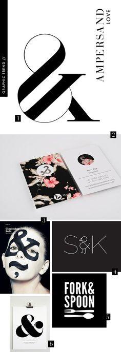 graphic designer ampersand trends