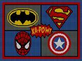 super heroes afghan pattern