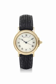 Breguet. An 18K gold automatic wristwatch with sweep center seconds and date. circa 1994. #watch #ChristiesWatches