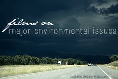 Some of us are visual learners. Reading about the major environmental issues just isn't the same as seeing and learning about it through an environmental documentary or movie depiction.