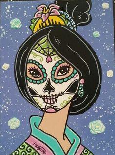 Disney Tattoo – Sugar Skull Princess Mulan ©Kitty OGane (My Art)… Disney Punk, Disney Pin Up, Disney Day, Disney Songs, Disney Love, Disney Princess Tattoo, Disney Princess Drawings, Disney Princesses, Punk Princess