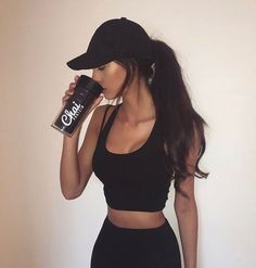 All black workout outfit