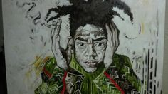 Jean Michel Basquiat  painting  by Giovanni Latorre