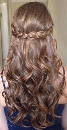 hair style for weddings peinados con trenza cascada con rulos cosas que me 8485