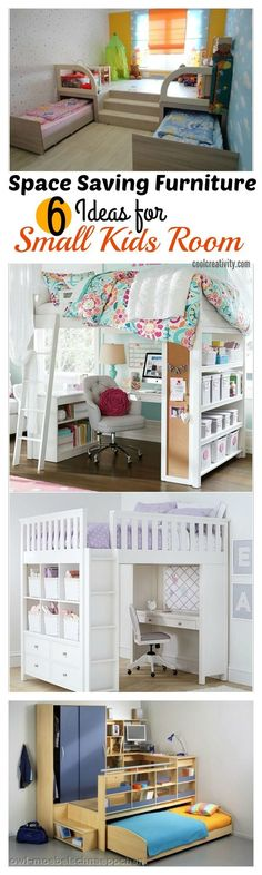 Sewing Ideas For Baby 6 Space Saving Furniture Ideas for Small Kids Room - Many parents are faced with the problem of furnishing small-scaled kids' rooms. Check out these 6 Space Saving Furniture Ideas for your inspiration. Small Room Design, Kids Room Design, Interior Design Ideas For Small Spaces, Interior Ideas, Small Room Interior, Modern Interior, Space Saving Furniture, Furniture Ideas, Rooms Furniture