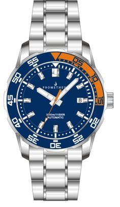 PRE ORDER: Prometheus Poseidon Stainless Steel Blue Orange Bezel 3500m Miyota 9015 Automatic Diver Watch