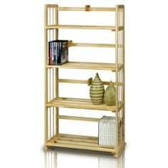 FURINNO FNCJ-33002 Pine Solid Wood 4-Tier Bookshelf by Furinno. $49.99. Home office bookcase, bookshelves and also serve as display rack. Some assembly required. Simple stylish design yet functional and suitable for any room. Material: imported pine solid wood. Sturdy on flat surface and durable. Furinno Home Office Storage and Organization Series: 4-Tier Pine Wood Bookshelf Storage Unit . (1) Unique Structure: Open display rack, shelves provide easy storage an...