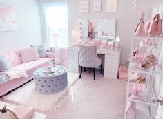 Pin on Beauty Room Bedroom Decor For Teen Girls, Cute Bedroom Ideas, Cute Room Decor, Girl Bedroom Designs, Teen Room Decor, Room Ideas Bedroom, Stylish Bedroom, Aesthetic Room Decor, My New Room