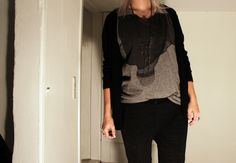 Black Swan - Black Swan t-shirt and cardigan - #BlackCasual Chic#