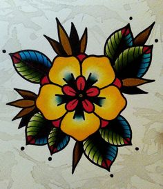 Image result for traditional pansy tattoo