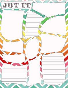 Organization printable