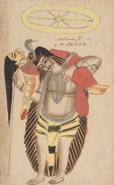 Philadelphia Museum of Art - Collections Object : Shiva Carrying the Dead Sati Krishna Hindu, Hindu Deities, Hanuman, Durga, Hinduism, Indian Folk Art, Indian Artist, Tantra Art, Shiva Lord Wallpapers