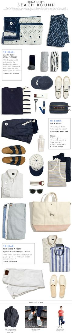 The Beach Bound Guy: A JCrew guide to living la vida playa. #namenetworth