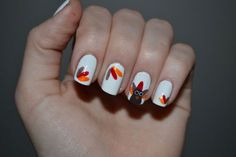 32 Best Easy Cute Thanksgiving Nail Art Images On Pinterest