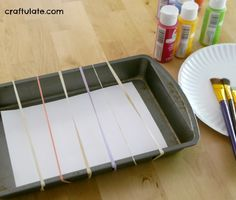 Have your kids tried painting with rubber bands? This messy process art activity is a lot of fun! This is a sponsored post written by me on behalf of . Preschool Art Activities, Painting Activities, Preschool Classroom, Preschool Activities, Kindergarten, Toddler Crafts, Kids Crafts, Easy Homemade Christmas Gifts, Christmas Horses