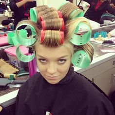 Can't wait until my bf's next hair appointment. I'm having him put in curlers like this!