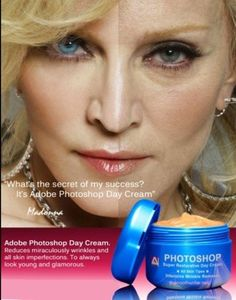 Madonna face photoshop scary eyebrows