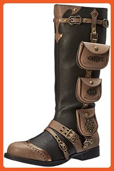 Ellie Shoes Women's 181-Silas Steampunk Boot, Black, 10 M US - Boots for women (*Amazon Partner-Link)