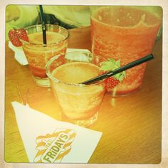 TGIF's Stockholm and delish strawberry margaritas