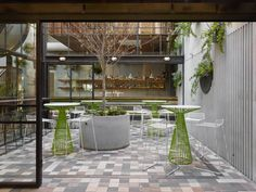 COURTYARD - Prahran Hotel / Techne Architects I Thanks for using Jil bar tables for this project I looks amazing