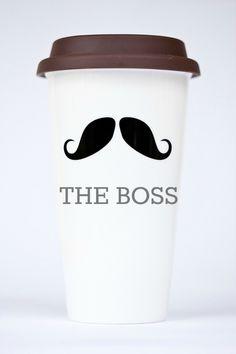 The Boss is environmentally friendly. #momug #coffeecup #coffee