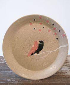 Love Birds Wedding Platter Ceramic Plate