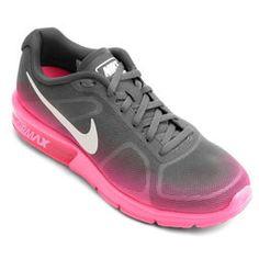nike air max rosa com cinza