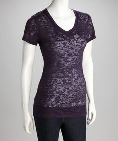 Take a look at this Plum Burnout Tee on zulily today!
