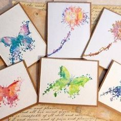 Visible Image stamps - Inky butterfly - flower stamps - Kim Johnny... love these watercolour stamped images
